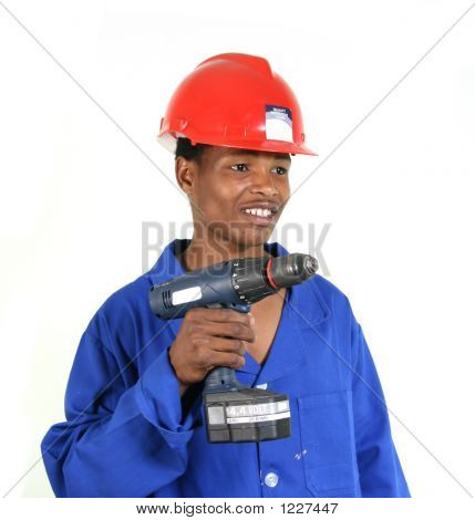 Working Man With Drill