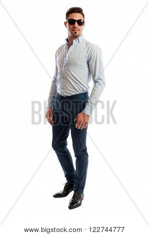 Male Model Wearing Casual Business Clothes