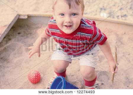 A Young Boy On Playground