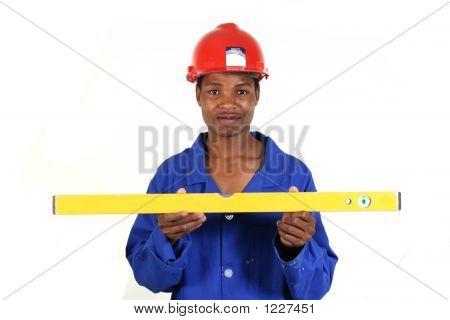 Man With Spirit Level 002
