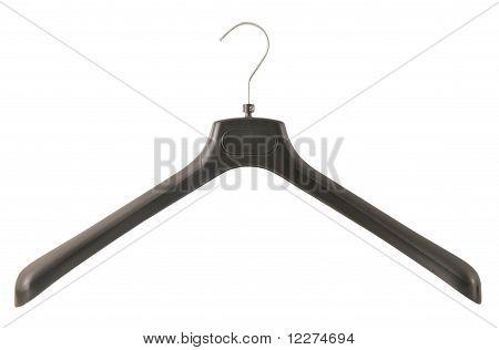 black clothes hanger