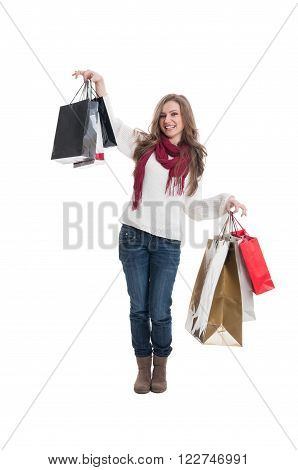 Cute Shopping Lady