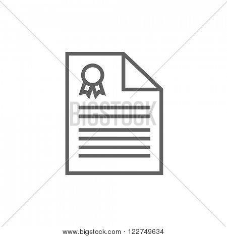 Real estate contract line icon.