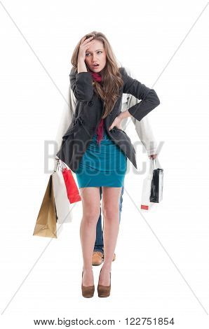 Exausted Shopping Girl