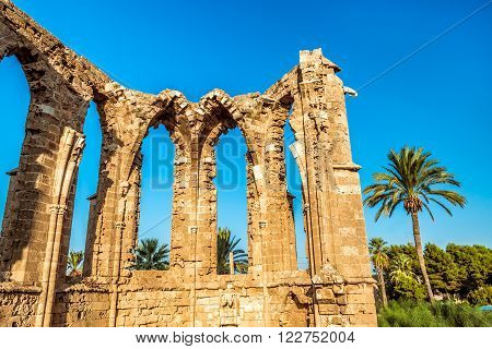 St George of the Latins Church. Slender Columns and Tall Windows. Famagusta Cyprus