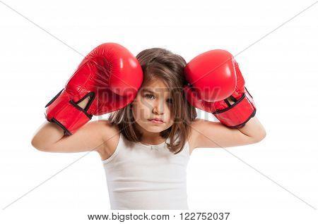 Young And Sad Boxer Girl