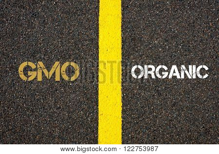 Antonym Concept Of Gmo Versus Organic
