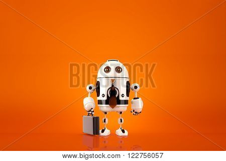 Business Robot. Technology concept. Contains clipping path.