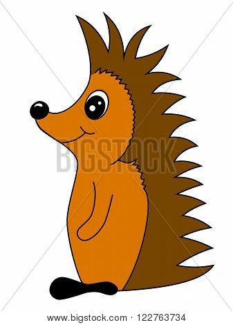 Small cartoon hedgehog illustration for children and so on