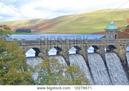Dam in Elan Valley Wales