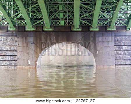 Conceptual image - under the bridge - bridge structure