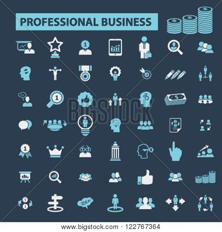 professional finances icons