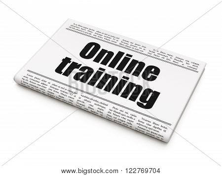 Studying concept: newspaper headline Online Training