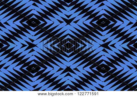 Textured black and blue tiled diamond shapes pattern