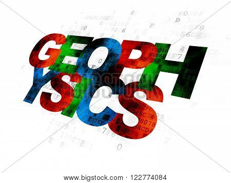 Science concept: Geophysics on Digital background