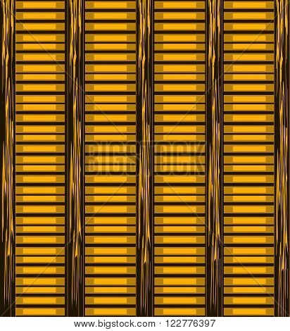 Background of wooden slats. Blinds vector background