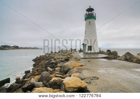 Walton Lighthouse, Santa Cruz Harbor, California, US