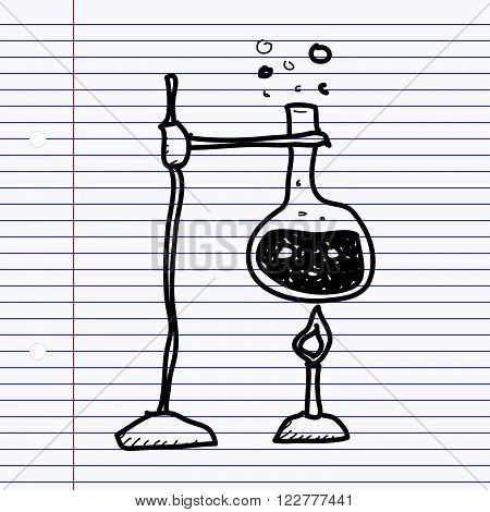 Simple Doodle Of A Science Experiment