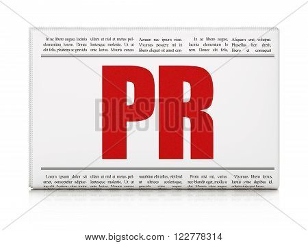 Advertising concept: newspaper headline PR