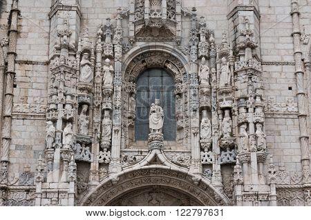 Jeronimos Monastery Belem, portal detail