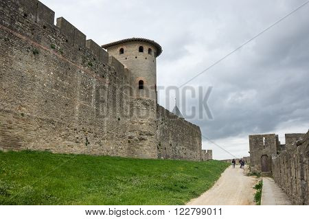 Medieval castle of Carcassonne Languedoc - Roussillon province France