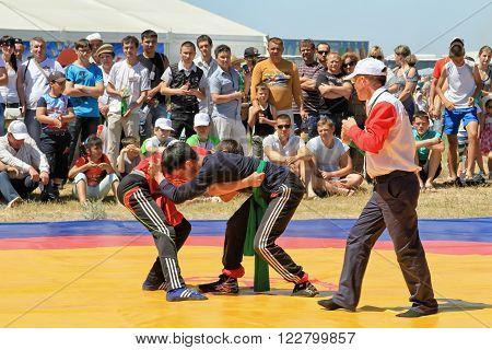 Traditional Tatar Belt Wrestling Koresh