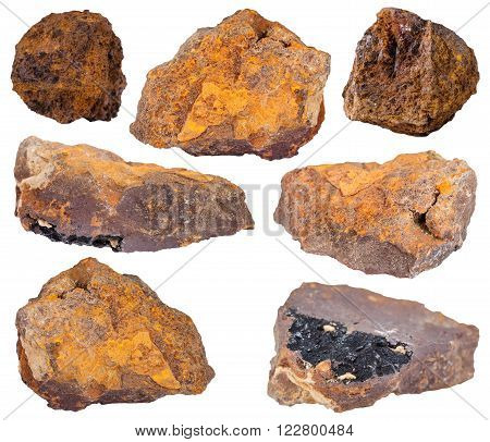 Set Of Limonite (brown Hematite, Iron Ore) Stones