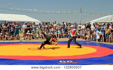 Traditional Tatar Belt Wrestling Koresh