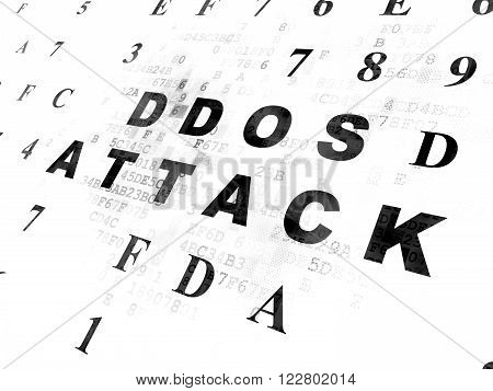 Security concept: DDOS Attack on Digital background