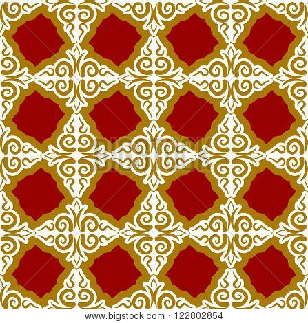Kazakh Pattern. Traditional National Background Of Kazakhstan. Texture Ornament Peoples Of Central A