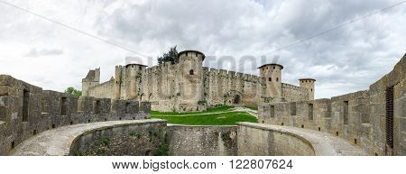 Medieval castle and city of Carcassonne, Languedoc - Roussillon, France
