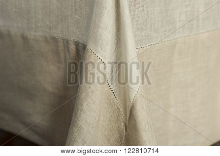 Tablecloth With Focus On Seams