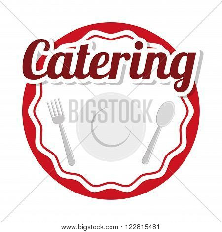 Catering concept with icon design, vector illustration 10 eps graphic.