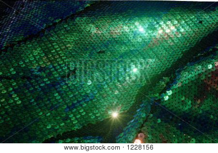 Green Fish Scale Fabric 01