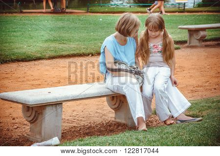 Mother with Daughter in the Difficult Situation