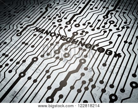 Science concept: circuit board with Nanotechnology