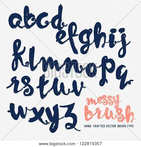 Handcrafted vector messy brush lettering. Vector illustration.