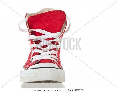 Vintage Red Shoe Closeup