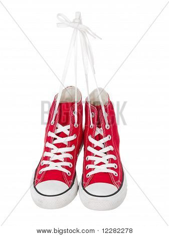 Vintage Hanging Red Shoes