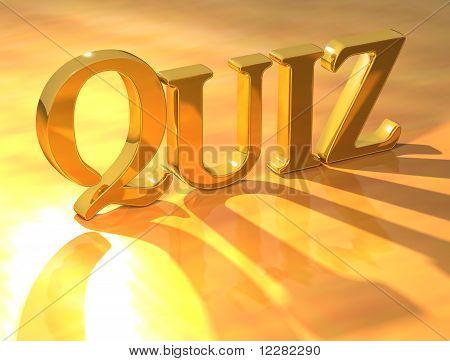 Quiz Gold Text