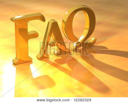 Faq Gold Text