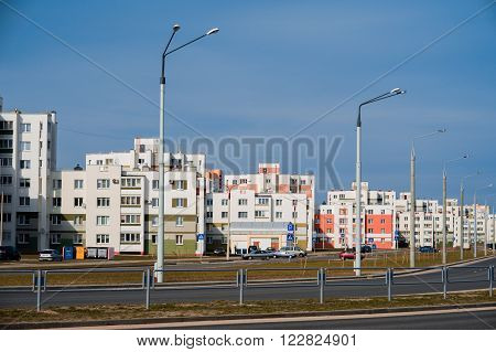 Coloful Panel Houses In Gomel City, Belarus.