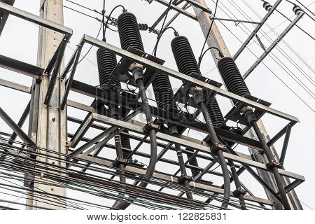High Voltage Electrical Distribution Station