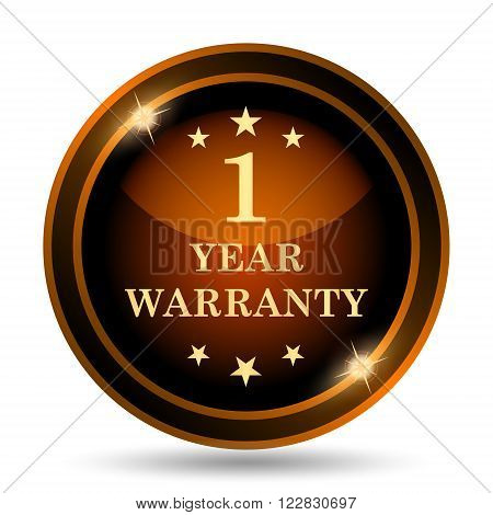 1 year warranty icon. Internet button on white background.