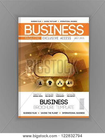 Magazine cover template, vector