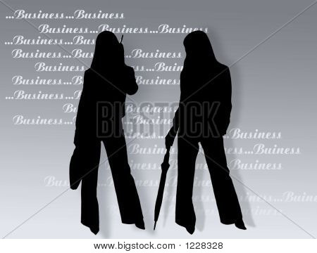 Business Womens And Text