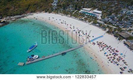 Aerial View Of Racha Island Phuket Andaman Southern Of Thailand Important Tourist Traveling Destinat