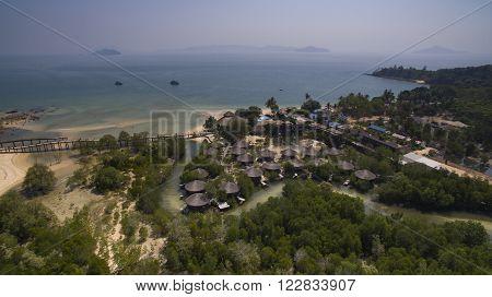 Aerial View Of Payam Island Ranong Province Andaman Sea Southern Of Thailand