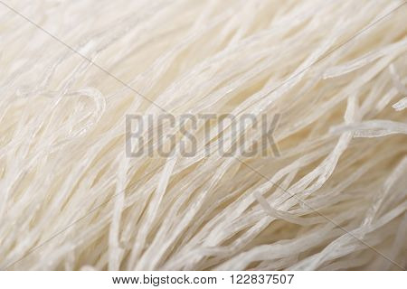 Close up of chinese glass noodles isolated on white