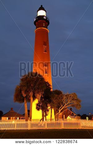 Historic Lighthouse at Ponce Inlet on Florida's Atlantic Coast